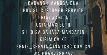 lowongan kerja bank icbc